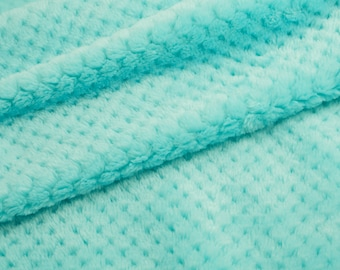 Cloud Spa Cuddle in Aruba - embossed minky fabric from Shannon Fabrics - sold by the half yard