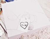 wedding rubber stamps Etched Heart Initial rubber Stamp