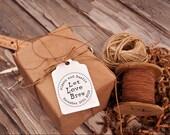DIY Wedding Favor Tags - Let Love Brew Custom Rubber Stamp --13018-CB17-000