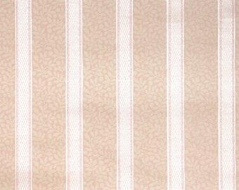 1930's Vintage Wallpaper - Tiny Pink Leaf and Stripe