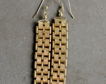 Vintage Watch Chain Earrings