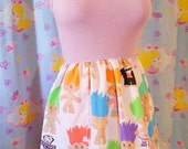 Treasure Trolls dress, fairy kei clothing sweet lolita 90s fashion Size small S