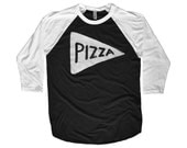 Team Pizza Baseball Jersey last minute gift for him for men tumblr father gift black white Unisex American Apparel dad gift for teen boy