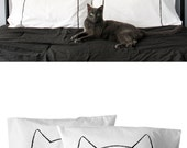 Cat Nap Pillow Case Set, unique dorm decor, couples gift, catnap pillowcases, crazy cat lady pillows, cotton anniversary gift, housewarming