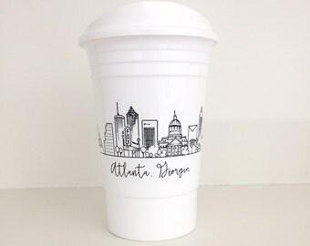 Reusable Atlanta, Georgia City Skyline Party Cup