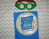 HAND Crafted   Super WHY Cape and optional  Mask Personalized- You Choose Color, Emblem and Name -