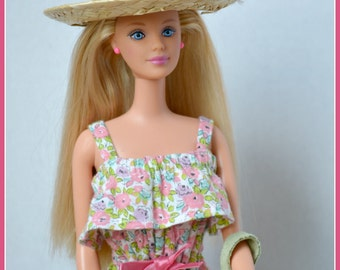 Ashes To Beauty Fashion Doll Makeover Barbie Summer Flowers Restored Doll