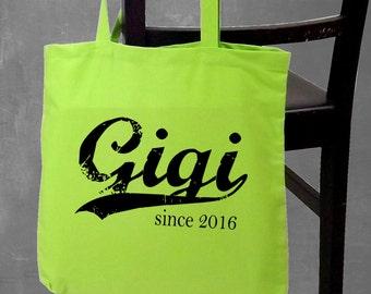 Gigi . screenprinted tote bag
