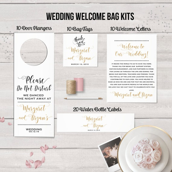 Philadelphia gift bags wedding