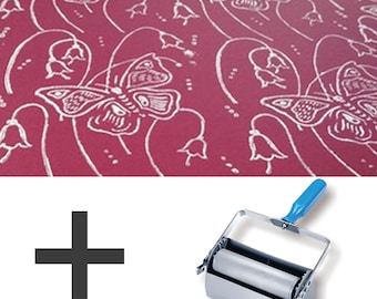 2-Colours Pattern Paint Roller STARTER PACK - Butterfly Lillies