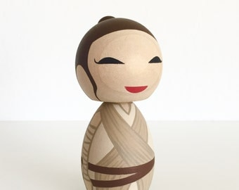 Limited Edition Rey hand painted kokeshi doll NEW ITEM !