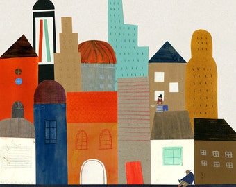 Imaginary city print