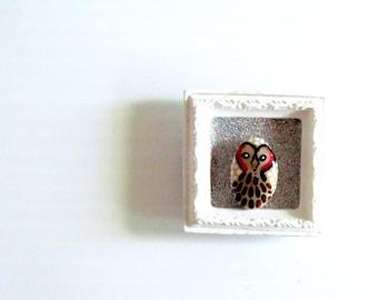 Framed Owl art magnet