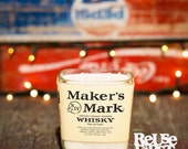 Repurposed Maker's Mark Soy Candle