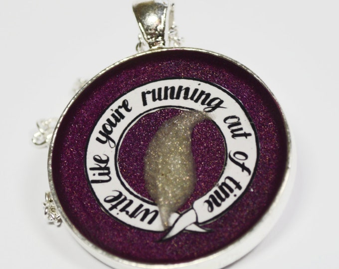 Hamilton Musical Running Out of Time Resin Pendant