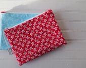 Blue & Red Florals - Zip ...