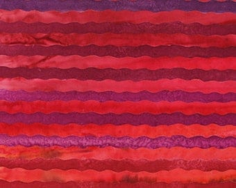 Batik Orange to Purple Sunrise Ombre Stripes Collection Anthology Fabrics 1 yard