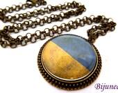 Ukraine flag necklace - Country Ukraine necklace - World country Ukraine necklace n765