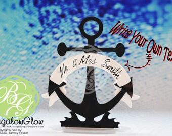 Nautical Anchor Keepsake Topper, Navy Wedding, Nautical Wedding, Nautical Theme Wedding, Navy Retirement *Original Design* DIY Bride