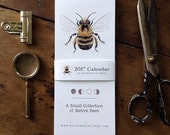2017 Calendar - A Collection of Bees - Digital - Printable PDF