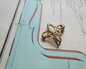 victorian filigree fleur de lis watch pin - vintage antique brooch costume jewelry