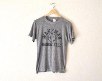 """80's """"Wakeman Basketball"""" Paper Thin Graphic T-Shirt"""