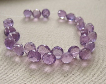 Pink Amethyst Onion Briolettes 5mm to 6mm - 25 Beads