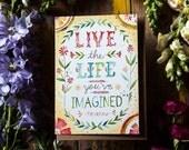 Greeting Card - Live the Life You've Imagined - Thoreau -