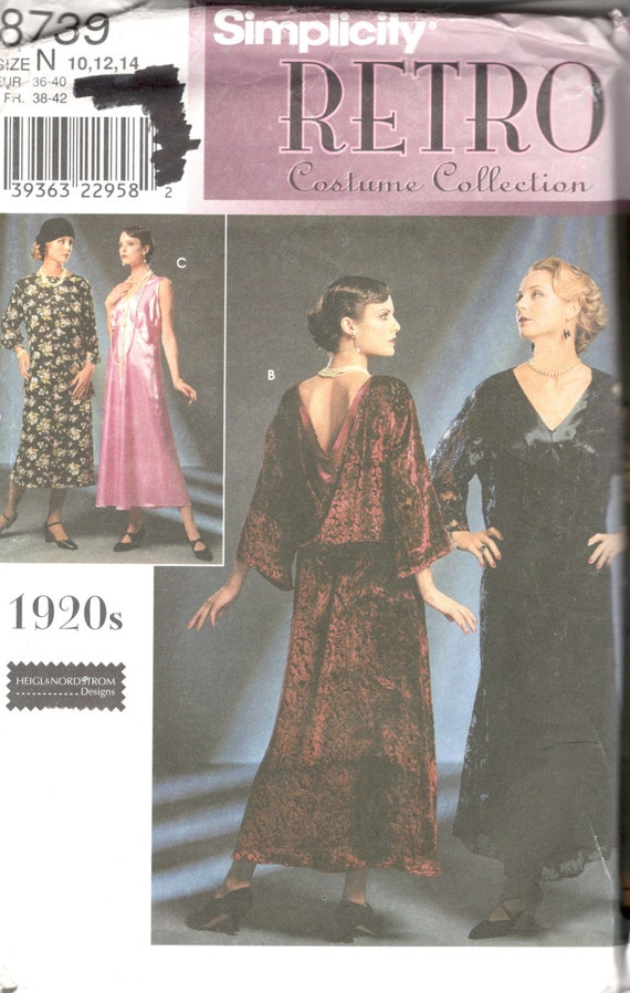 Simplicity 8739 1920s Dress Pattern Great Gatsby Downton Abbey