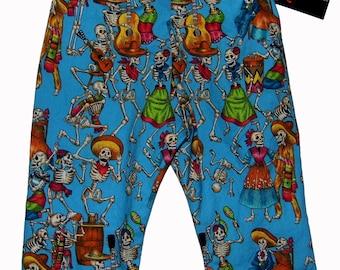 Day of the Dead - Punk Baby - Skeleton Pants - Skull Crossbones - Boy Pants - Girl Pants - Toddler Pants  -  Baby Pants - Nb to 5T