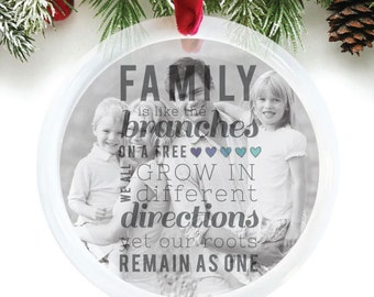 Family ornament, custom ornament, personalized family ornament, customized holiday ornament featuring your photo // C-P07-OR XX9
