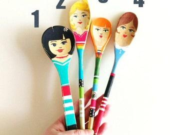Handpainted Wooden Spoon Dolls