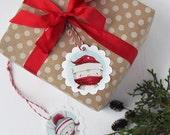 "Christmas Gift Tags - christmas -holiday - bird - bunny - fox - penguin - owl - raccoon - ""Forest Friends"""