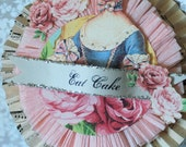 Marie Antoinette Shabby Chic Cake  Topper / Table Decor