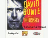 """PARIS 1996 - February - David BOWIE 's Concert with special Guest  MORISSEY - Genuine Ticket - Album """"1 Outside""""   very good condition"""