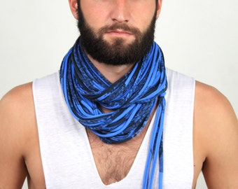 Cowl, Chunky Scarf, Boyfriend Gift, Blue Chunky Scarf, Gift For Her, Gift Ideas, Gifts for Him, Mens Gift, Infinity Scarf,  Boyfriend