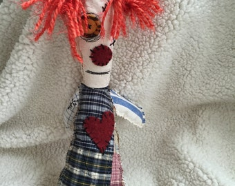 Ugly Monster Zombie Clown Rag Doll OOAK