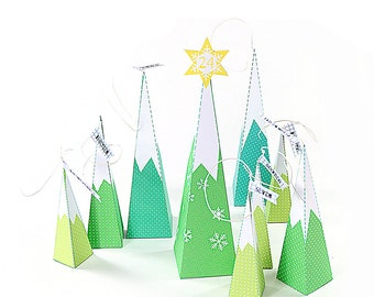 Christmas party idea - printable - party idea - boxes