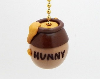 Honey Pot Fan Pull - Bee Nursery - Honey Bee Themed Room - Polymer Clay