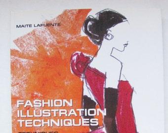 Fashion Illustration Techniques by Lafuente, Fashion Book on Drawing, Art Book on Fashion, Fashion Design