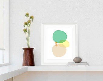 Watercolor Print, Art Print, Contemporary Art, Room Decor, Green