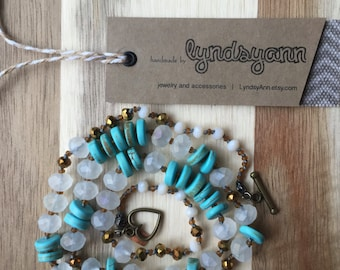 Turquoise Hand Knotted Necklace