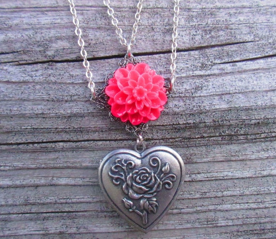Hearts and Flowers Locket.
