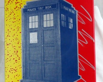 TARDIS Hand Screenprinted Wall Art