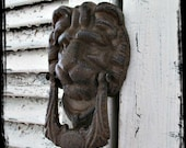 AwESoMe CaST IRoN LioN's HeAD DooR KNoCKeR
