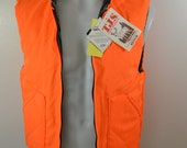Vintage TJS Empire Insulated Wear HUNTING VEST reversible usa made nwt deadstock medium