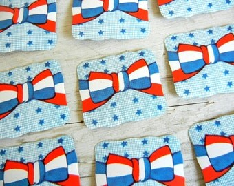 Whitney Made Stars Stripes Seals | Die-Cut Embossed Patriotic Labels | July 4th Stickers