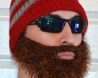 Bearded Beanie, Bearded Hat, Bearded Cap, Beard Beanie, Knitted Beard Hat, Adult Size, All Colors