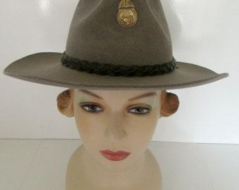 5X Beaver Genuine Fur Felt Cowboy Hat Size 6 7/8