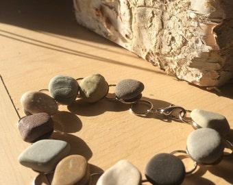 Lake Michigan Beach Stone Bracelet